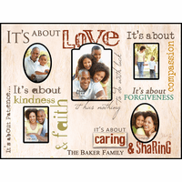 Its About Love Personalized Collage Picture Frame