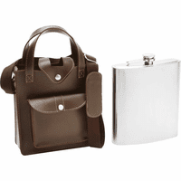 Jumbo Size 80 Ounce Flask With Sheath