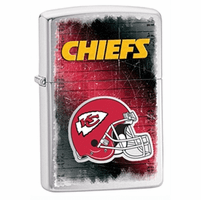 Kansas City Chiefs NFL Brushed Chrome Zippo Lighter - ID# 28592
