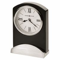 Karisma Piano Finish Black Table Clock by Howard Miller