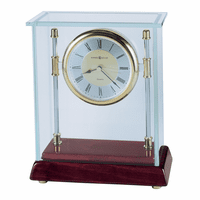 Kensington Glass Bracket Case Table Clock by Howard Miller
