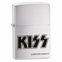 Kiss Brushed Chrome Zippo Lighter - ID# 24565