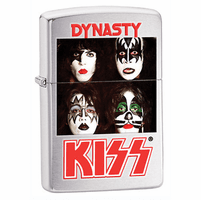 KISS Dynasty Brushed Chrome Zippo Lighter - Discontinued