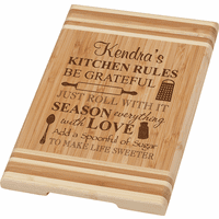 Kitchen Rules Personalized Cutting Board