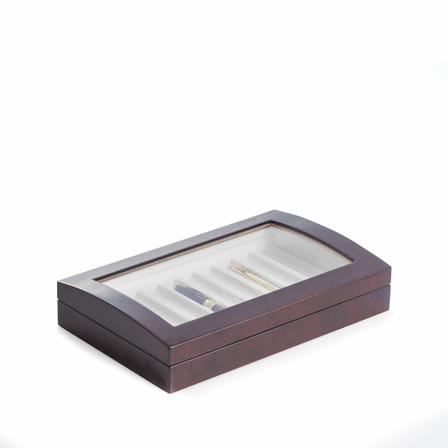 Lacquered Burl Wood Pen Box