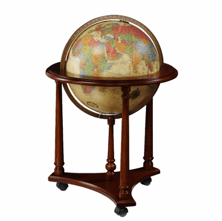 Lafayette Floor Globe In Antique by Replogle Globes