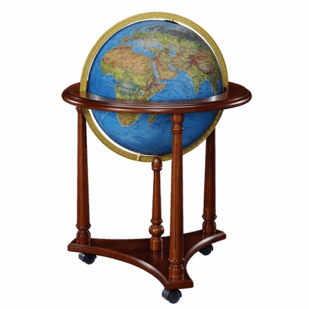 Lafayette Floor Globe In Blue by Replogle Globes