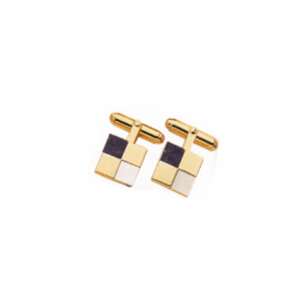 Lapis & Mother of Pearl Cubism Genuine Stone Cufflinks - Discontinued