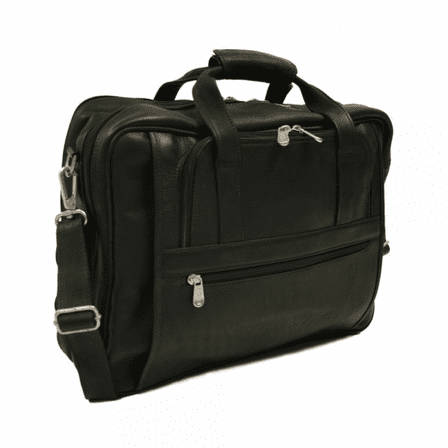 Large Laptop Briefcase/Carry On Bag by Piel Leather - Free Personalization