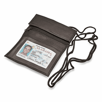 Large Leather ID Holder With Neck Strap