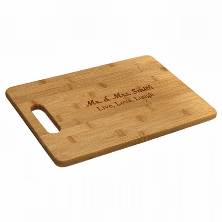 Large Personalized Bamboo Cutting Board With Handle