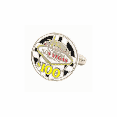 Las Vegas Poker Chip Cufflinks