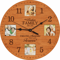 Lasting Memories Personalized Photo Wall Clock - Discontinued