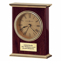 Laurel Rosewood Finish Tabletop Clock by Howard Miller