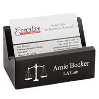Lawyer's Desktop Business Card Holder