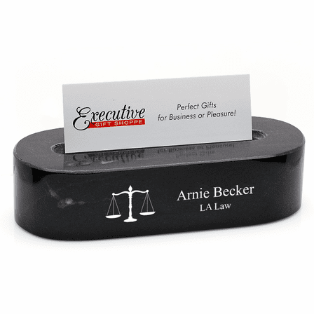 Lawyer's Oval Desktop Business Card Holder