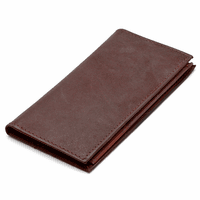 Leather Checkbook & Credit Card Wallet with Removable Checkbook Sleeve - Discontinued