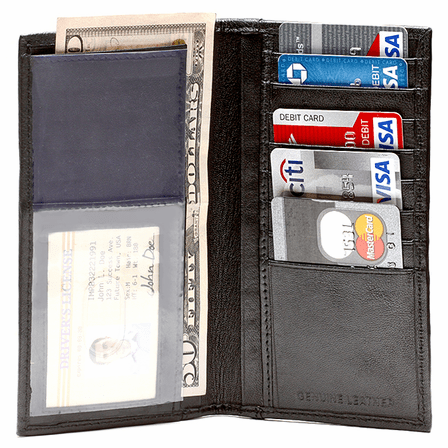 Leather Checkbook Wallet & Organizer