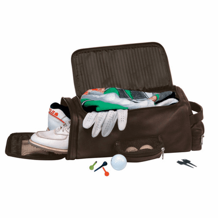 Leather Golf Shoe and Accessory Bag by Royce