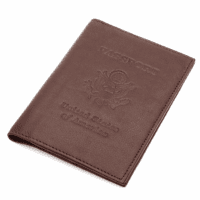 Leather Passport Holder with USA Seal