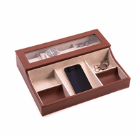 Leather Valet Box With Phone Tray