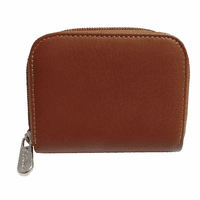 Leather Zip Around Business Card Case by Piel