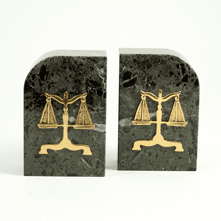 Legal Scales Green Marble Bookends - Discontinued