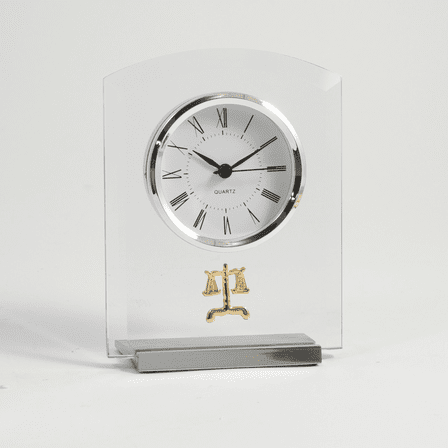 Legal Theme Desk Clock - Discontinued