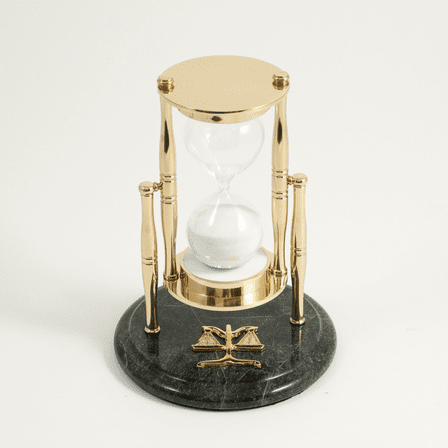 Legal Theme Hourglass Sand Timer