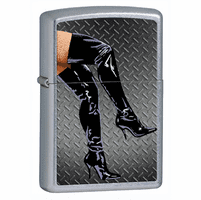 Legs in Boots Street Chrome Zippo Lighter - ID# 28055