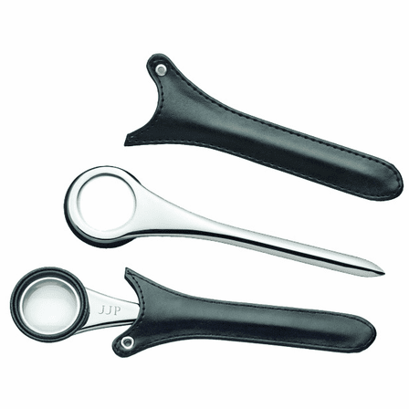 Letter Opener & Magnifying Glass with Black Leatherette Case - Discontinued
