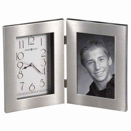 Lewiston Picture Frame Desk Clock By Howard Miller Executive Gift