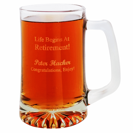 Life Begins At Retirement 25 Ounce Tankard