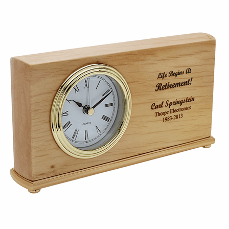Life Begins At Retirement Desk Clock