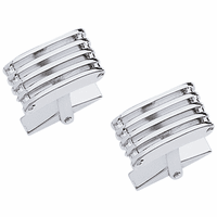 Linear Collection Sterling Silver Cufflinks