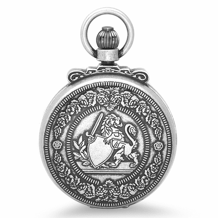 Lion & Shield Mechanical Charles Hubert Pocket Watch & Chain #3866-S