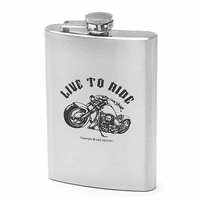 Live To Ride Motorcyle Flask - Discontinued