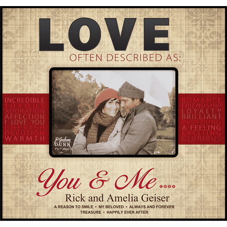 "Love 4"" x 6"" Personalized Photo Frame"