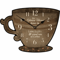 Love, Laughter & Coffee Personalized Wall Clock - Discontinued