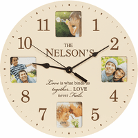 Love Never Fails Personalized Photo Wall Clock - Discontinued