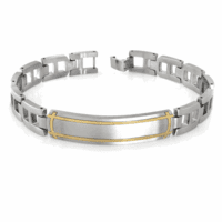 Luminous Collection Stainless Steel Men's ID Bracelet-dis