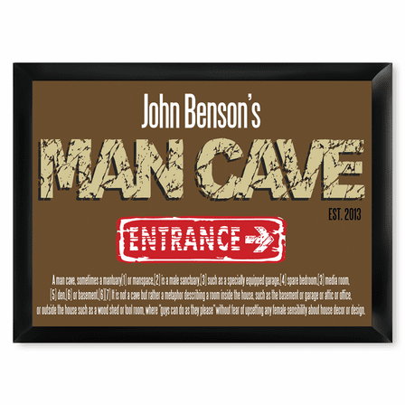 Man Cave Defined Pub Sign - Free Personalization