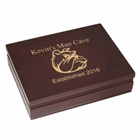 Man Cave   Rosewood Finish Playing Card Box