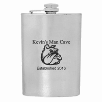 Man Cave Stainless Steel Flask