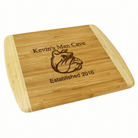 Man Cave  Two Tone Bamboo Cutting Board - Large