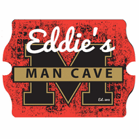 Man Cave University Vintage Pub Sign - Free Personalization