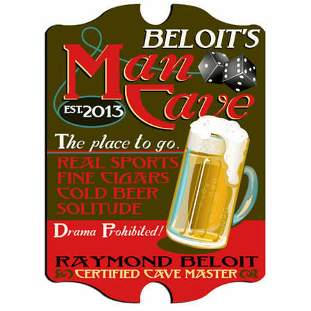 Man Cave  Vintage Pub Sign - Free Personalization