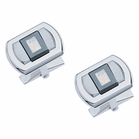Manhattan Collection Sterling Silver, Mother-of-Pearl & Hematite Cufflinks