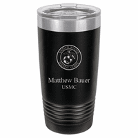 Marines Emblem 20 Ounce Black Polar Camel Travel Mug