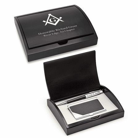 Masonic Card Holder & Pen Set